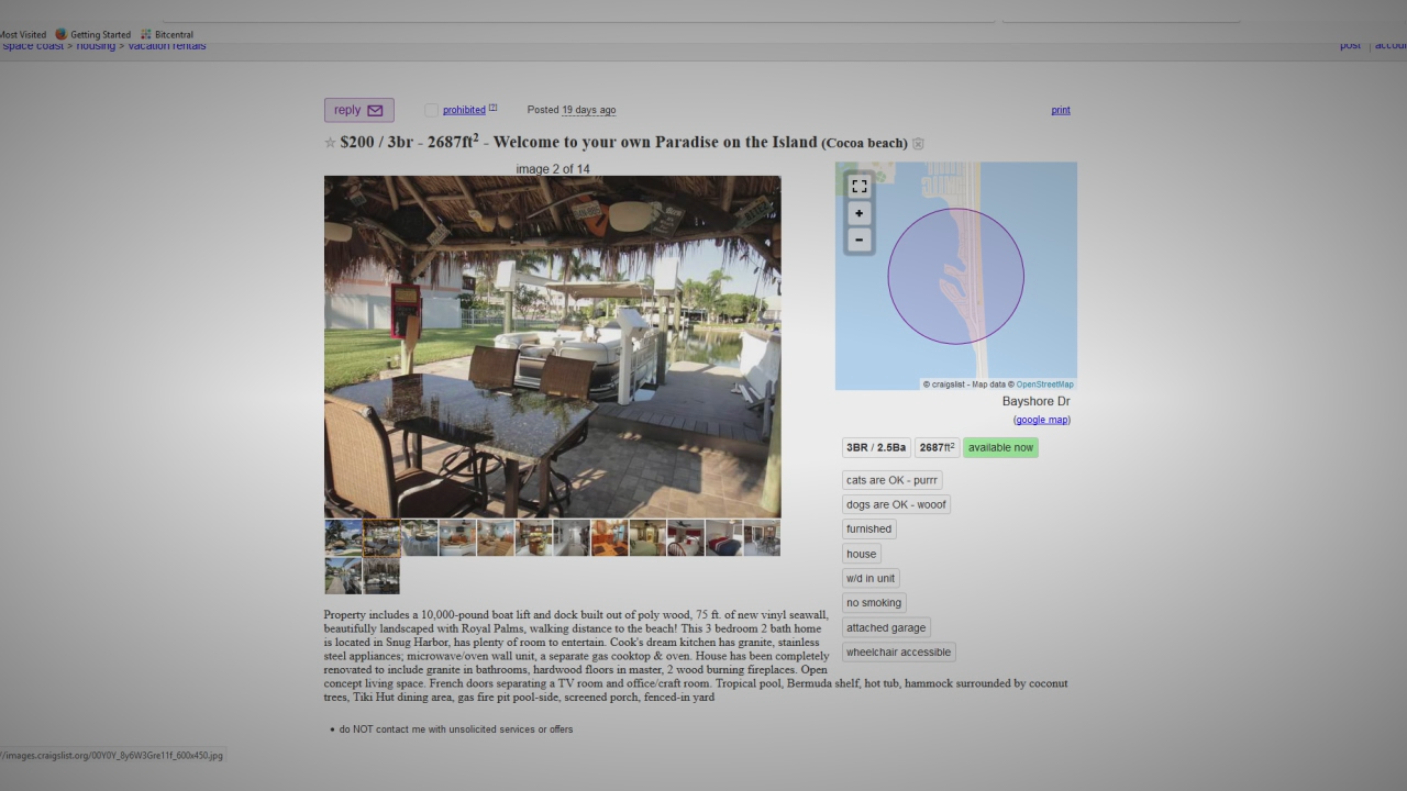 Craigslist Cocoa Beach Fl >> Twin Cities Softball Team Falls Victim To Fake Rental Home